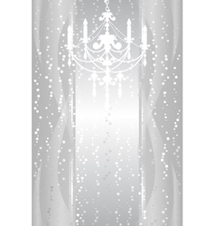 silver frame with chandelier vector image vector image