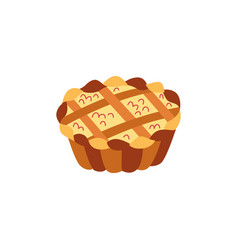 thanksgiving pie flat isolated vector image