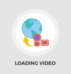 upload video flat icon vector image vector image