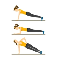 Woman Making Right Plank Position vector image vector image
