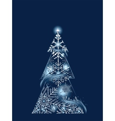 Blue Magic Tree vector image vector image