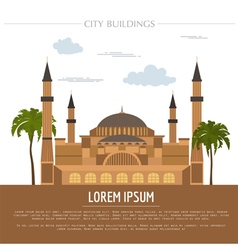 City buildings graphic template St Sofia Mosque vector image