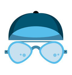 Cool glasses and hat vector