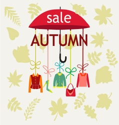 fashion Autumn Sale Background with Leaves vector image vector image