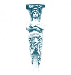 female statue vector image