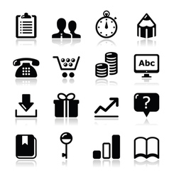 Website internet icons set vector image vector image