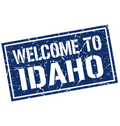 welcome to idaho stamp vector image vector image