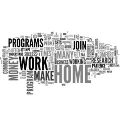 Work at home common mistakes text word cloud vector