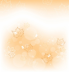 Autumn background with orange maple leaves vector image vector image