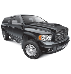 black large pickup vector image vector image