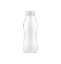 clean drinking bottle mock up vector image