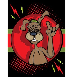 Dog Rocking Out vector image