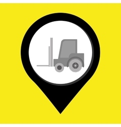 lift truck isolated icon design vector image