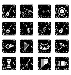 Musical instruments icons set simple style vector