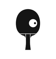 Rackets and ball for playing table tennis icon vector image