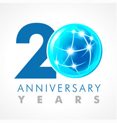 20 anniversary connecting logo vector