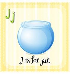 A letter J vector