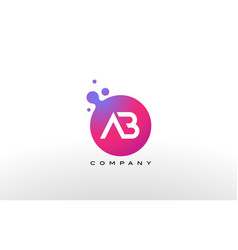 Ab letter dots logo design with creative trendy vector