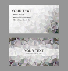 Abstract triangle design business card template vector