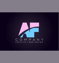 Af alphabet letter join joined letter logo design vector