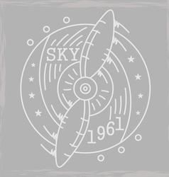 Airplane emblem3 monochromeVS vector