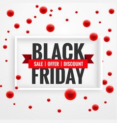 amazing black friday sale banner with red dots vector image