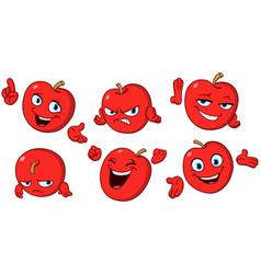 Apple cartoon set vector