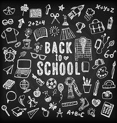 Back to school Sketch set vector