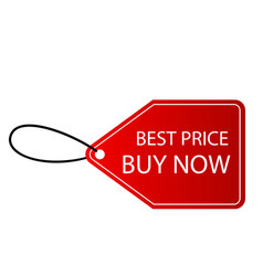 banner best price buy now tag image vector image