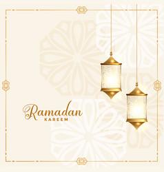 Beautiful ramadan kareem traditional festival vector