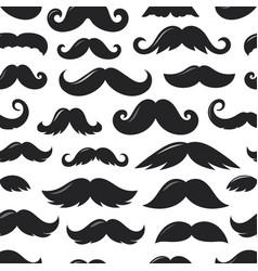 black sillhouettes moustache v seamless pattern vector image