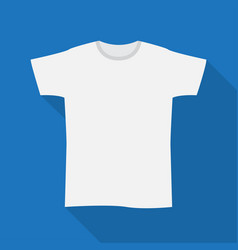 blank white t-shirt with short sleeve vector image