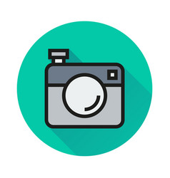 camera icon on white background vector image
