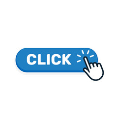 Click here button with hand icon click web vector
