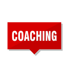 Coaching red tag vector