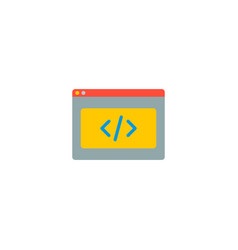 coding icon flat element of vector image