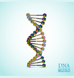 Colorful dna background vector