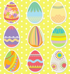Colorful Pattern Easter Eggs vector image