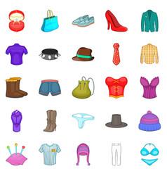 corset icons set cartoon style vector image