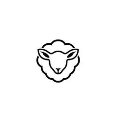 Creative abstract sheep logo vector