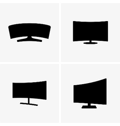 Curved screen displays vector image