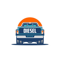 dually truck diesel rear view isolated eps vector image