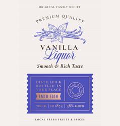 family recipe vanilla spice liquor acohol label vector image