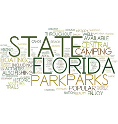 florida state parks text background word cloud vector image