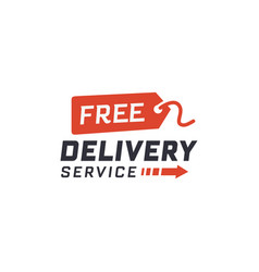 free delivery service vector image