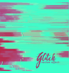 glitch background with duotone shade vector image