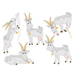 Goats set vector
