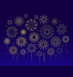 gold celebration festive fireworks vector image