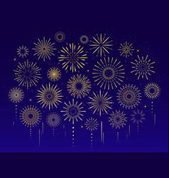 gold celebration festive fireworks vector image