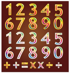 Gold number design vector